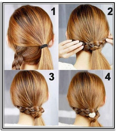 easy hairstyles for medium length hair to do at home fashionable and easy updos for long hair ohh my my