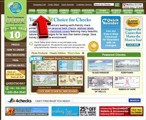 Check Gallery Personal Checks Coupon Code Www Checkgallery