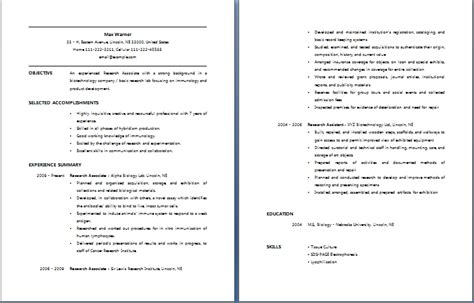 Financial Services Associate Sle Resume by Research Associate Resume Free Layout Format