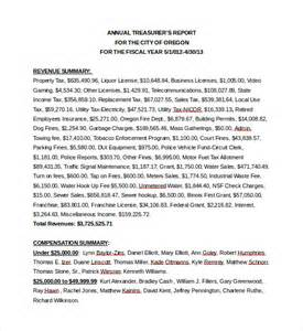 treasurer report templates 13 free word pdf documents