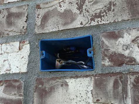 masonry electrical box installation masonry free engine