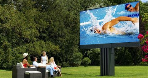 backyard tv c seed 201 is a giant tv for your backyard