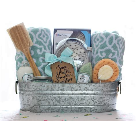 bathroom gift basket ideas the craft patch shower themed diy wedding gift basket idea