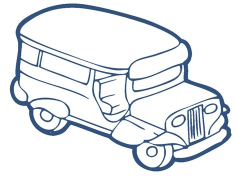 jeepney philippines drawing jeepney clipart clipart kid jeepney coloring page in
