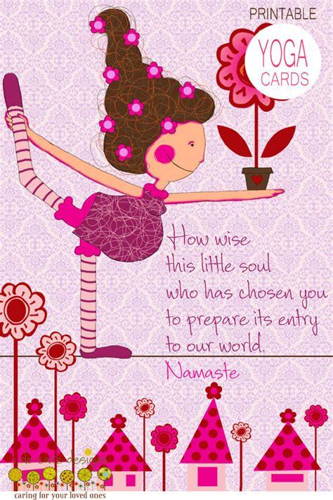 Printable Yoga Greeting Cards | items similar to printable yoga birthday card birthday