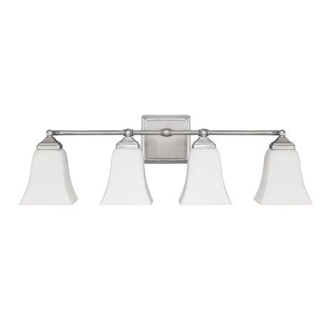capital lighting bathroom fixtures capital lighting 4 light vanity fixture brushed nickel