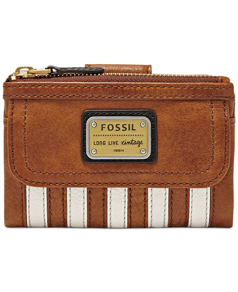 Fossil Patchwork Wallet - lyst fossil emory leather patchwork multifunction wallet