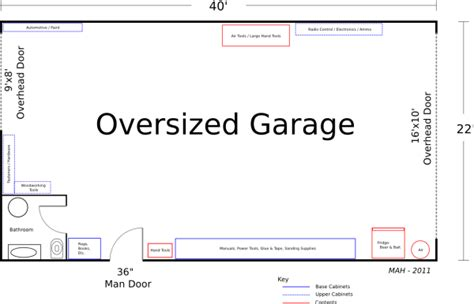 large garage plans floor plan friday oversized garage 171 mithril and mages