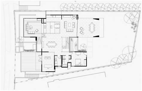 modern open floor plan floor plan of modern house with many open areas