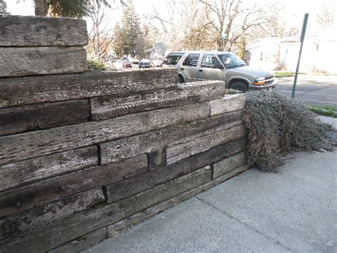 railroad tie retaining walls safe home inspections
