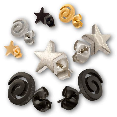 stainless steel earrings spiral or ear jewelry ear studs