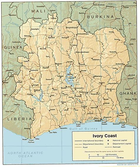 ivory coast on the map reisenett cote d ivoire ivory coast maps