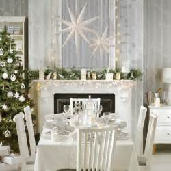 Home Decorations Uk by Winter Wonderland Christmas Dining Room With Paper Stars