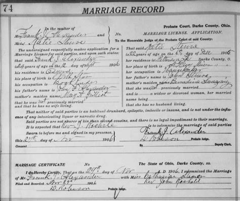 Ashtabula Co Ohio Marriage Records Birth Certificate St Louis County Image Collections