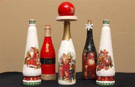 adornos de botella navidad imagenes botellas con un toque de navidad revista amiga