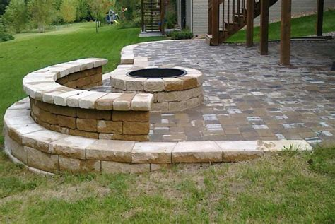 firepit landscaping pits omaha landscaping