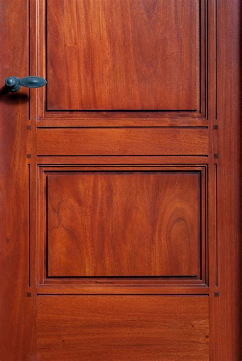 custom mahogany wood paneled interior door doors