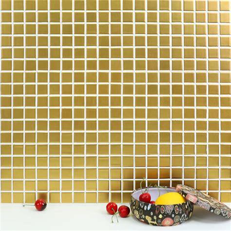 1 quot x1 quot matte square golden ceramic mosaic tile wholesale china - 1 X1 Tile Mat