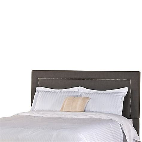 soft headboard buy hillsdale claire king headboard in soft grey from bed