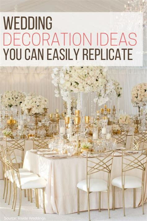 diy wedding reception decorations on a budget wedding decoration ideas you can easily replicate the