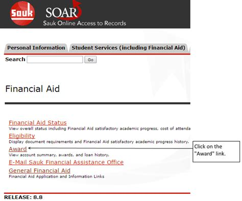 financial aid help desk financial aid awards soar online help skyhawk student