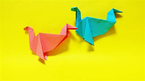 Loch Ness Origami - 네시공룡 색종이접기 easy origami american loch ness paper