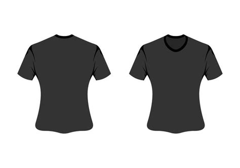 T Shirt Template Vector by Vector Blank T Shirt Template Free Vector