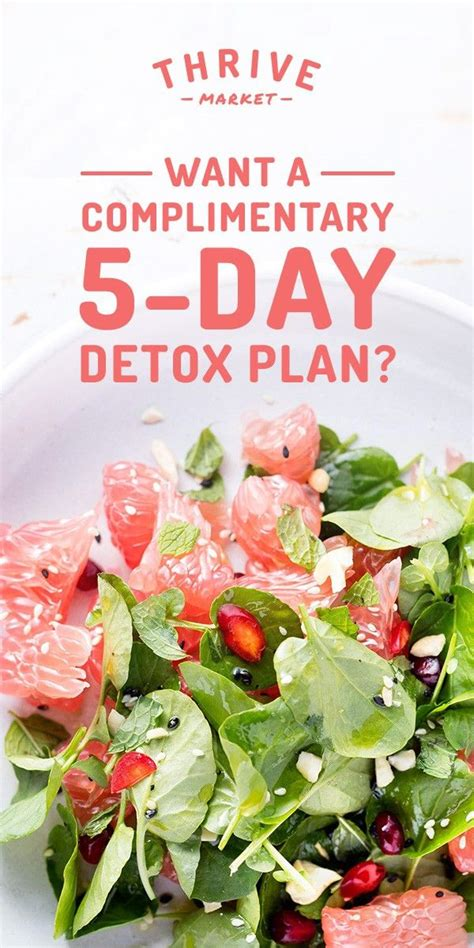 Detox Book by Get Thrive Market S 5 Day Step By Step Detox Book For Free