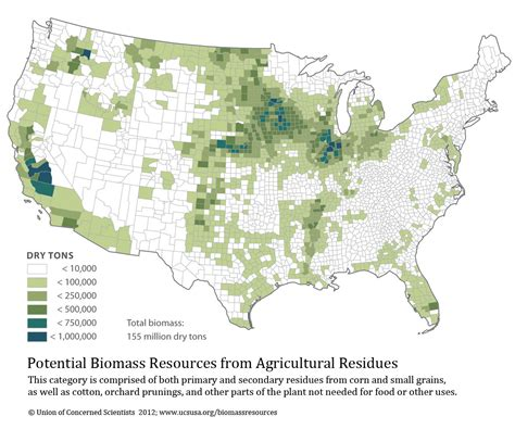 united states agriculture map biomass resources in the united states 2012 union of