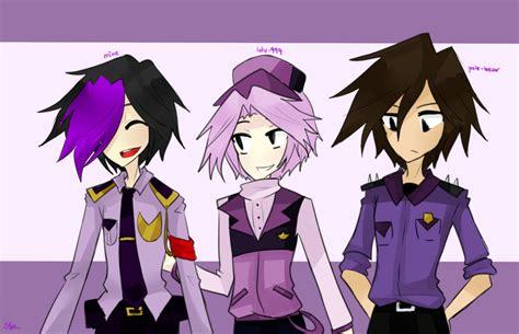 imagenes de vincent kawaii purple guys by shweezyliz on deviantart
