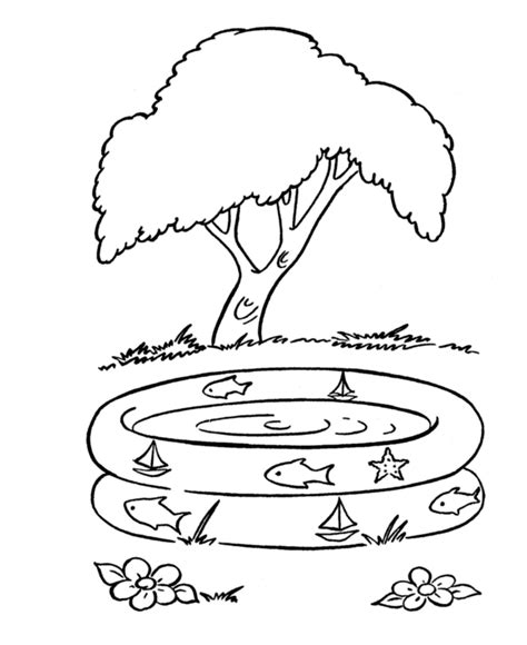 swimming pool coloring pages coloring pages