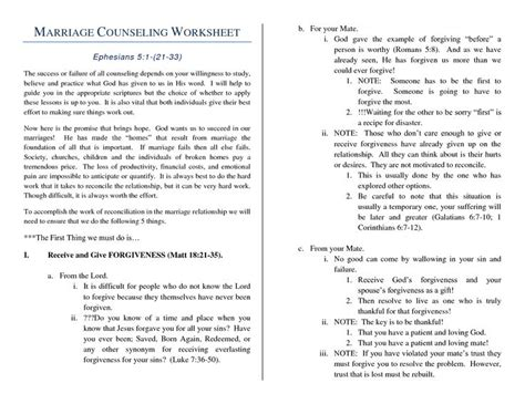 Marriage Therapy Worksheets by Marriage Help Worksheet Marriage Counseling Worksheet