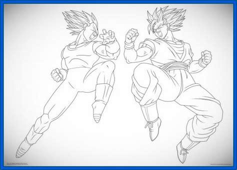 imagenes de goku y vegeta fusionados juegos dibujos de goku para colorear