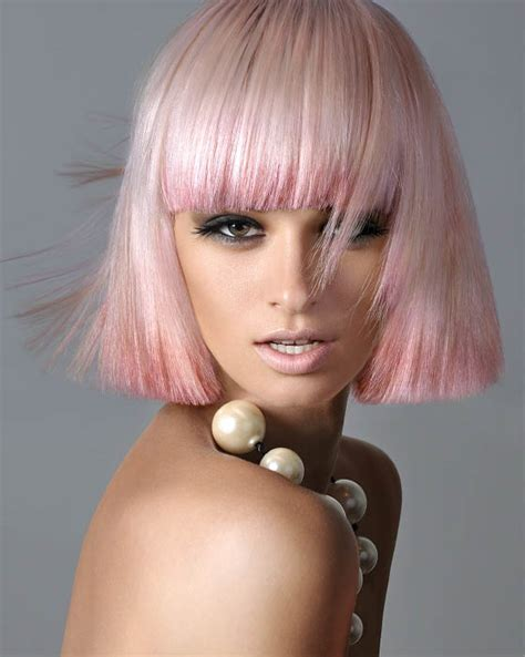 beutician pics of hairstsyles they have done pink blunt bob hairstyle the latest trends in women s