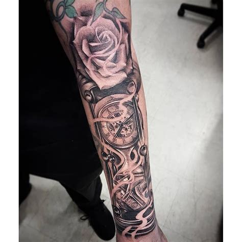 rose made out of money tattoo city tattoos time is money did this dope gap