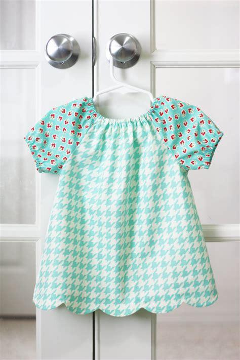 peasant shirt pattern girl peasant dress blouse pdf pattern scalloped hem