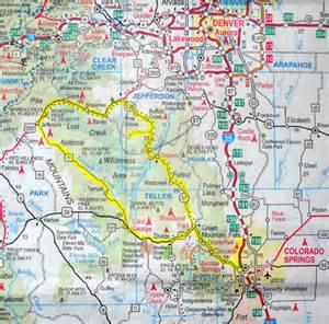 manitou springs colorado map my