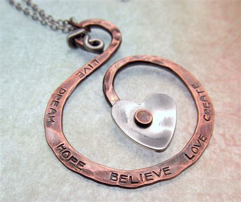 jewelry metal work copper metalwork necklace sted jewelry