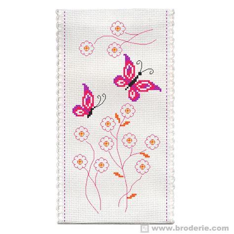 schemi punto croce farfalle e fiori ricamo punto croce astuccio farfalle e fiori princesse pr