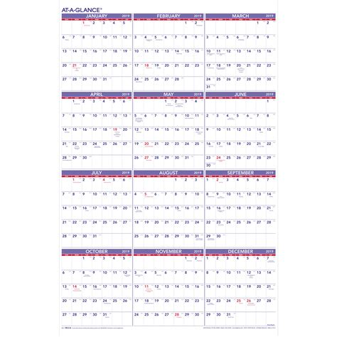 2017 year at a glance calendars red stamp