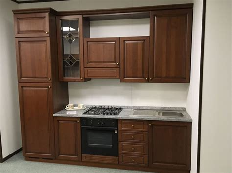 cucina lineare offerta offerta cucina lineare 270cm cucine store legno rovere
