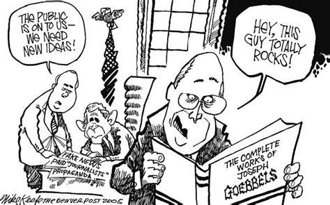 political cartoons of name calling propaganda white house propaganda mike keefe political cartoon 03