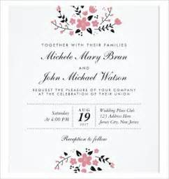 Free Invitation Templates For Word by Wedding Invitation Template 71 Free Printable Word Pdf