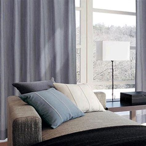 Grey Room Curtains Simple Japanese Style Grey Color Living Room Curtain