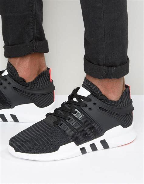 Sepatu Sneakers Adidas Originals Eqt Support Adv Black White adidas originals eqt support advance sneakers in black bb1260 in black for lyst
