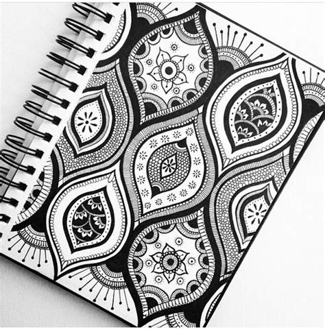 pattern for drawing around zentangle exp 233 rience and motifs on pinterest
