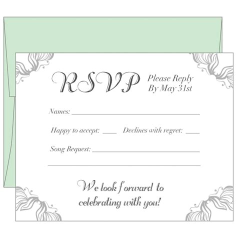 Rsvp Cards Wedding Cards Wedding Templates Wedding Response Card Template