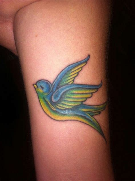 small blue bird tattoo blue bird on the arm i it