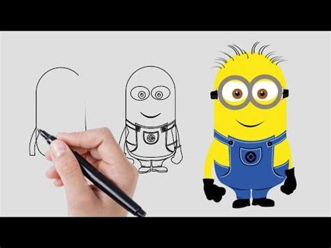 Imagenes Como Dibujar Un Minions | c 243 mo dibujar un minion dibujar minions paso a paso v 237 deos