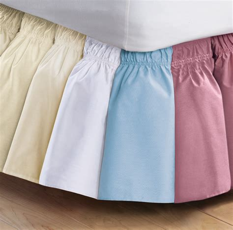 Easy On No Lifting Twin Full Size Elastic Band Bed Skirt Ruffle New